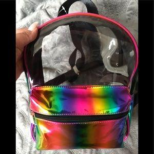 Holo Rave Festival RAINBOW Clear - Backpack!!
